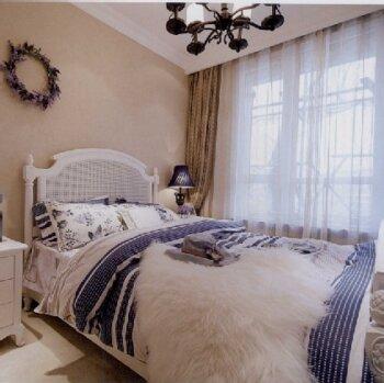 钢结构床安窗帘图片